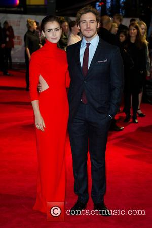 Lily Collins & Sam Claflin - World premiere of 'Love, Rosie' at Leicester Sqaure, Odeon West End - London, United...