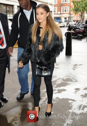 Ariana Grande - Celebrities at BBC Radio 1 - London, United Kingdom - Wednesday 8th October 2014