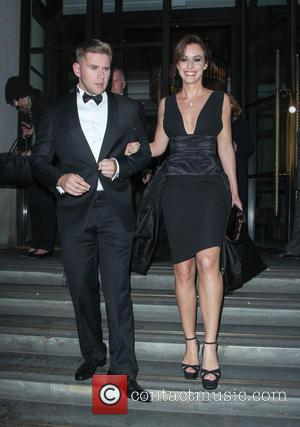 Allen Leech and Charlie Webster - Celebrities leaving the Corinthia hotel - London, United Kingdom - Wednesday 8th October 2014
