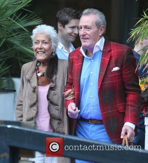 Lynda Bellingham and Michael Pattemore - Photographs of a variety of celebs outside the ITV studios in London, United Kingdom...