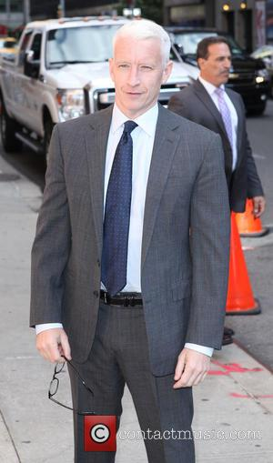 Anderson Cooper - Late Show with David Letterman at Ed Sullivan Theater - New York City, United States - Wednesday...