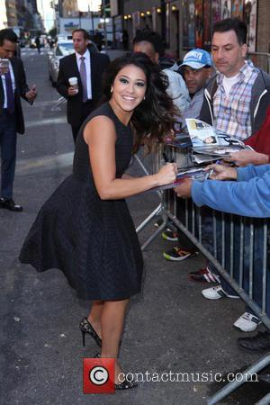 Gina Rodriguez - Late Show with David Letterman at Ed Sullivan Theater - New York City, United States - Wednesday...