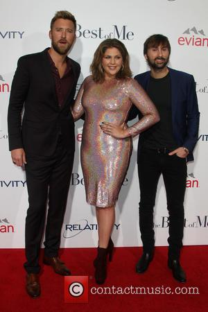 Charles Kelley, Hillary Scott and Dave Haywood - Photographs of the stars on the red carpet for the premiere of...
