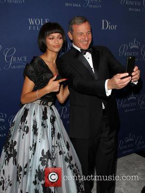 Zendaya and Bob Iger