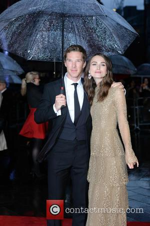 Keira Knightley and Benedict Cumberbatch - Stars of the new film 'Imitation Game' attended the premiere in London, United Kingdom...