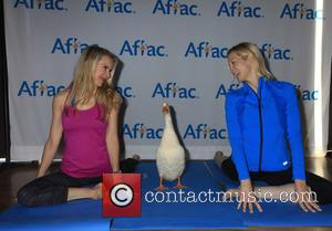kelly rutherford and kristen McGee - Yoga with the Aflec Duck - New York, New York, United States - Thursday...