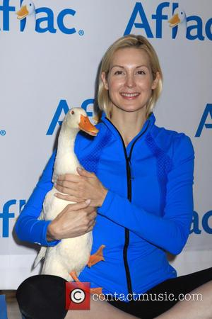Kelly Rutherford - Yoga with the Aflec Duck - New York, New York, United States - Thursday 9th October 2014