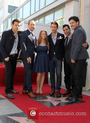 Jordan Knight, Donnie Wahlberg, Melissa, Joey McIntyre, Danny Wood and Jonathan Knight - New Kids on the Block's star unveiling...