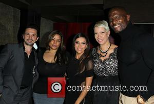 Freddy Rodriguez, Elsie Rodriguez, Eva Longoria, Rebecca King-crews and Terry Crews
