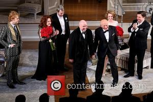 Rupert Grint, Stockard Channing, Matthew Broderick, Jack O'brien, Terrence Mcnally, Megan Mullally and Nathan Lane