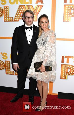 Matthew Broderick and Sarah Jessica Parker - Opening night afterparty for 'Its Only A Play' at Marriott Marquis Hotel -...