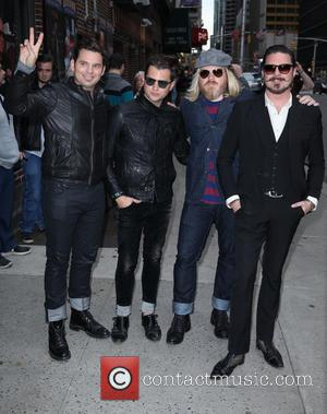 David Letterman, Rivalsons From L To R, Michael Miley, Jay Buchanan, Dave Beste and Scott Holiday