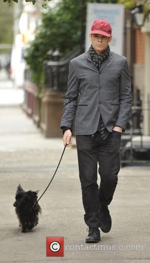 Michael C Hall - Michael C Hall  walking his dog in Soho - Manhattan, New York, United States -...