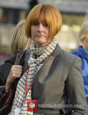 Mary Portas - British female celebs took over the London eye for International Day of the Girl in London, England,...