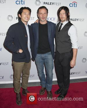 Steven Yeun, Andrew Lincoln and Norman Reedus