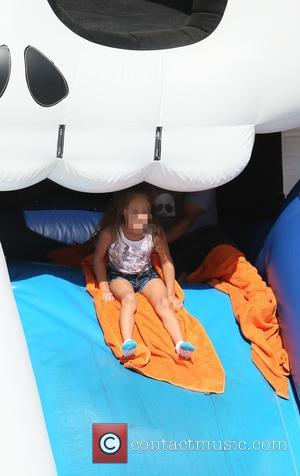 Emme Muniz - Latin American pop superstar Jennifer Lopez visited Mr. Bones Pumpkin Patch with her two children Maximillian and...