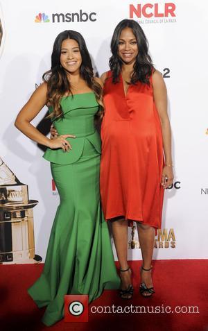 Gina Rodriguez and Zoe Saldana
