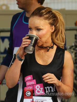 Katie Piper - Photo's of the action from the Royal Parks half marathon which was held at Hyde Park in...