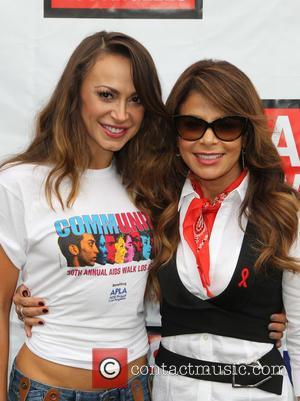 Karina Smirnoff and Paula Abdul