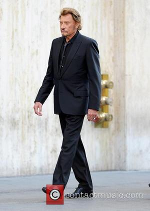 Johnny Hallyday - Singer Jean-Philippe Smet better known as his stage name Johnny Hallyday seen filming his latest music video...