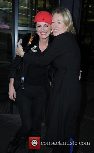 Lisa Stansfield and Elaine Constantine - Celebs at MediaCityUK - Manchester, United Kingdom - Monday 13th October 2014