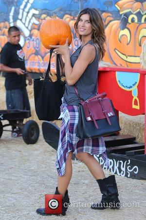 Italian actress Elisabetta Canalis was photographed when she visited Mr. Bones Pumpkin Patch in West Hollywood, Los Angeles, California, United...