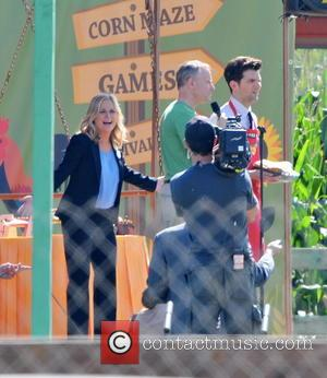 Amy Poehler and Adam Scott - Star of 'Parks and Recreation' and 'Saturday night live' Amy Poehler was photographed as...