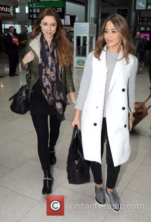 Una Foden and Rachel Stevens - Una Foden and Rachel Stevens arriving at Dublin Airport at Dublin Airport - Dublin,...