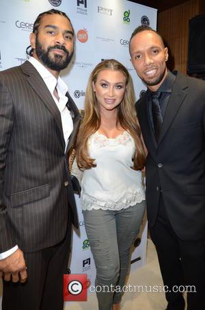 David Haye, Lauren Goodger and Ruben Tabares - British heavyweight boxer David Haye along with other celebs were photographed at...