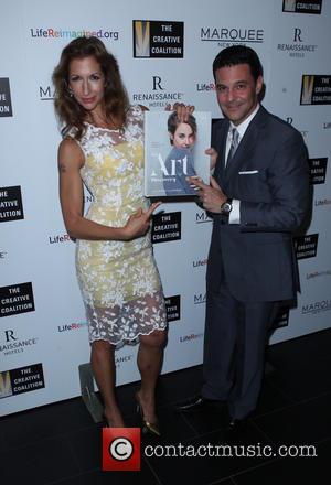 Alysia Reiner and David Alan Basche - Many stars attended the Creative Coalition's spotlight awards dinner gala held in New...