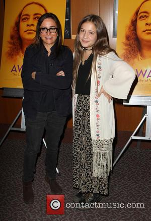 Pamela Adlon and Gideon Adlon - Stars attended the Los Angeles premiere of 'AWAKE: The Life Of Yogananda' which was...