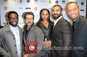 Tinie Tempah, Jeremy Piven, David Haye, Guest and Ruben Tabares