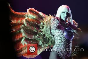 Photo's of American pop star Lady Gaga performing live in concert at the National Indoor Arena in Birmingham, United Kingdom...