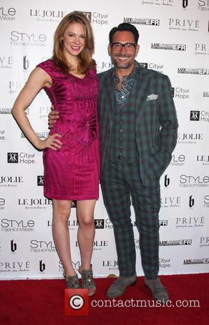 Maitland Ward and Gregory Zarian - Sue Wong Spring 2015 Fashion Show - 'Fairies And Sirens' - Arrivals at The...