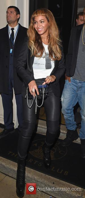 Beyonce Knowles and Jay Z - Beyonce and Jay Z leave The Arts Club - London, United Kingdom - Wednesday...