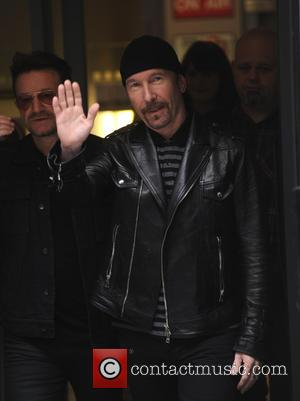 Bono The Edge U2 - Bono and The Edge from U2 at the BBC - London, United Kingdom - Wednesday...