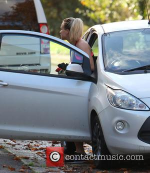 Chloe Madeley - Chloe Madeley arrives home after visiting a gym - London, United Kingdom - Thursday 16th October 2014