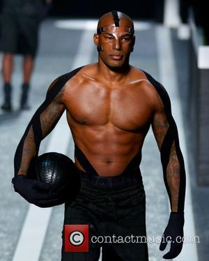 Tyson Beckford - Photographs from the runway at Alexander Wang's launch of his X H&M collection held at Fort Washington...
