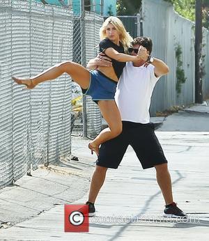 Michael Waltrip and Emma Slater