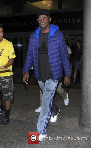 Samuel L. Jackson - Samuel L. Jackson arriving at Los Angeles International Airport at Los Angeles International Airport (LAX) -...