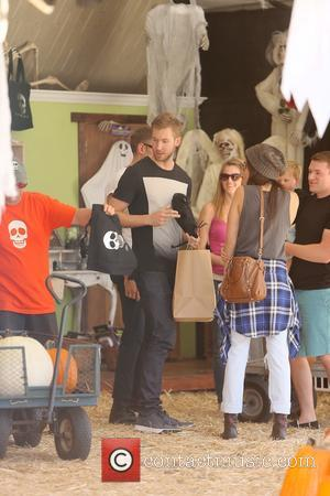 Calvin Harris and Aarika Wolf - Scottish DJ and producer Calvin Harris spotted with model Aarika Wolf at Mr Bones...