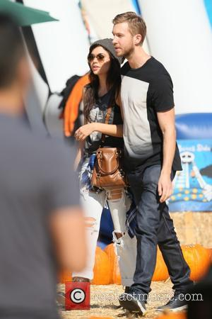 Calvin Harris and Aarika Wolf - Scottish DJ and producer Calvin Harris spotted with model Aarika Wolf at Mr Bones...