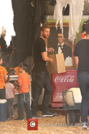 Calvin Harris - Scottish DJ and producer Calvin Harris spotted with model Aarika Wolf at Mr Bones Pumpkin Patch in...