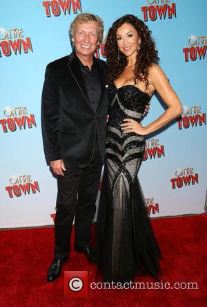 Nigel Lythgoe and Guest - On The Town Opening Night - Arrivals at Lyric Theatre, - New York, New York,...