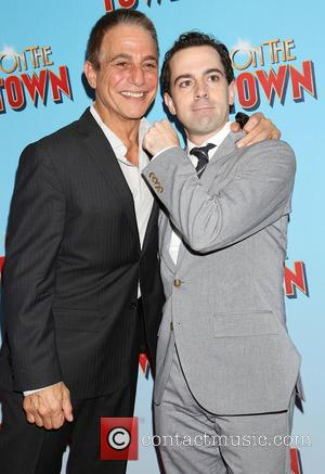 Tony Danza and Rob McClure - On The Town Opening Night - Arrivals at Lyric Theatre, - New York, New...