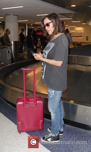 Jennifer Tilly arrives at Los Angeles International Airport (LAX)