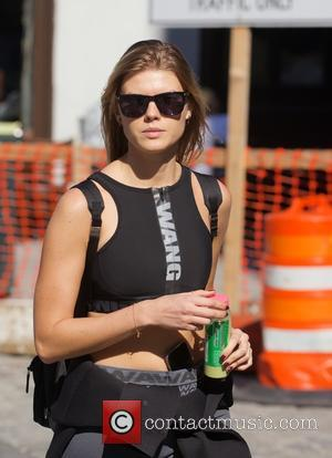 Belarusian model Maryna Linchuk spotted out in Tribeca wearing Alexander Wang