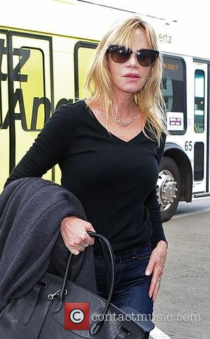 Melanie Griffith departs from Los Angeles International Airport (LAX)