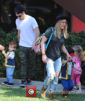 Hilary Duff, Mike Comrie and Luca Comrie