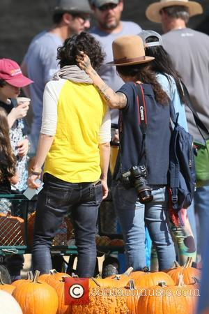 Pregnant American actress Sara Gilbert and her partner, Former lead singer of American rock band 4 Non Blondes Linda Perry...